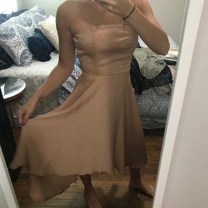 Strapless high low dress!